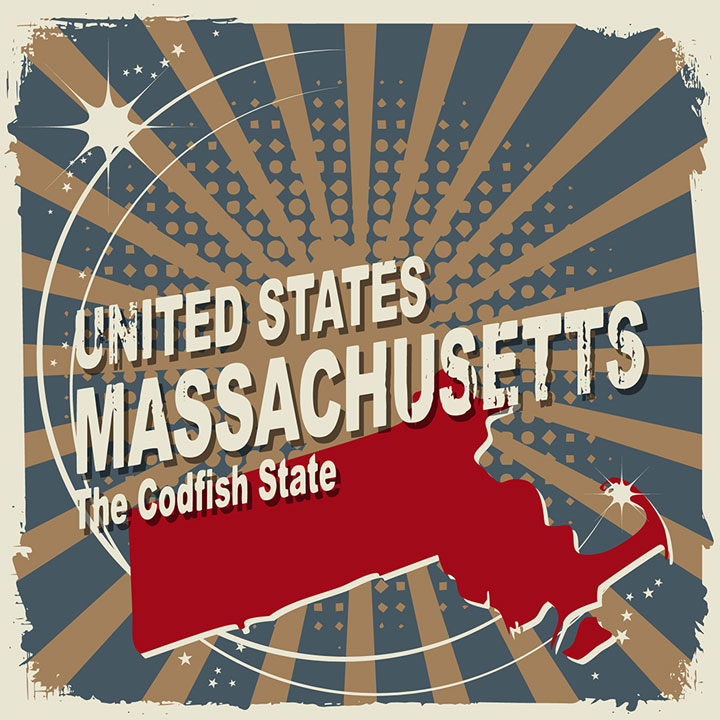 abstract massachusetts map